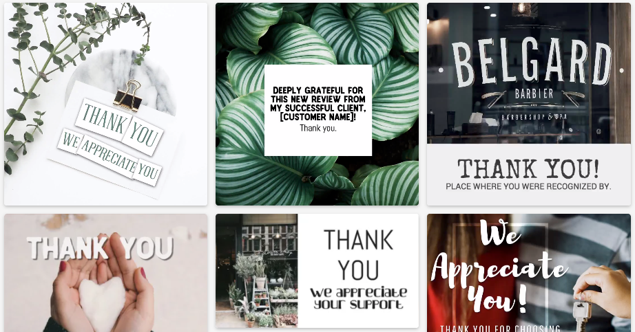 Ways to say thanks social media post template collection
