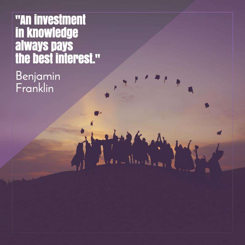 Benjamin Franklin quote for social media