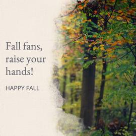 Social media post template for Fall