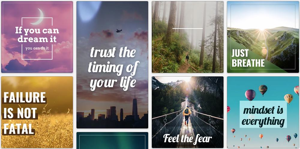 Get inspired social media post templates to share your inspiration on social
