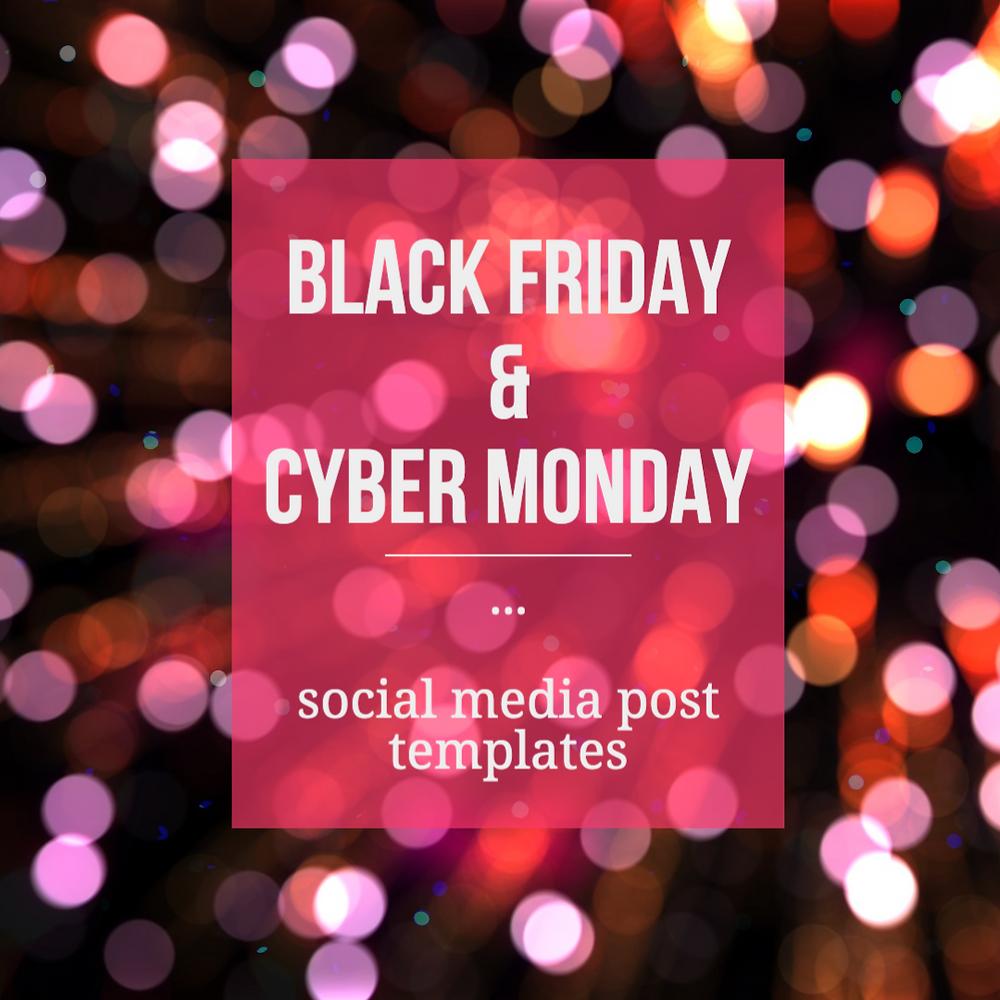 Black Friday social media post template for Instagram with black glitter background