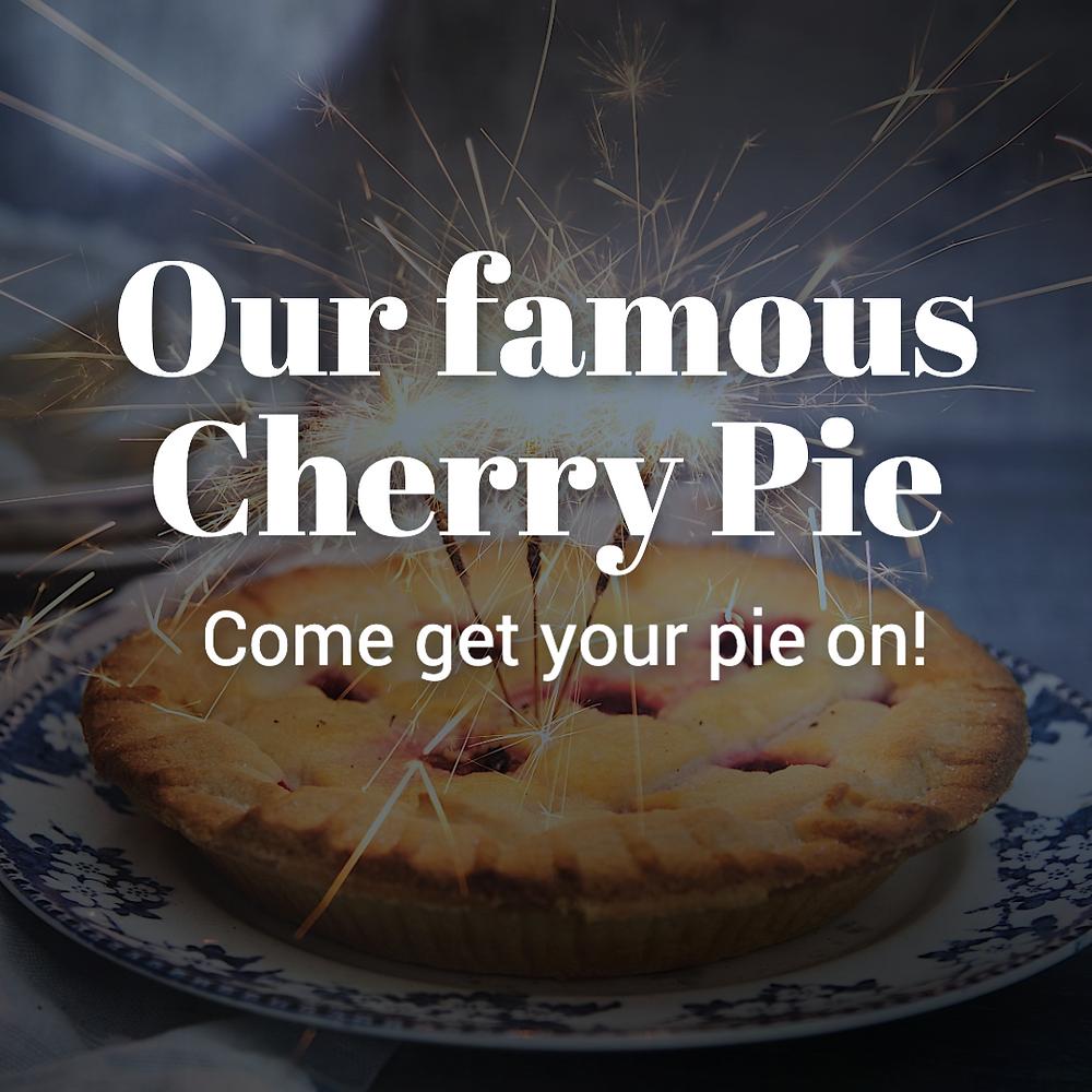 National Pie day cherry pie social media post template