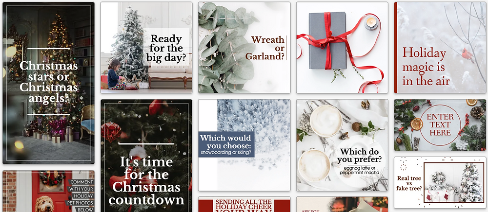 Engaging social media posts for the holidays for small businesses
