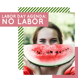 Watermelon Labor Day template for social media