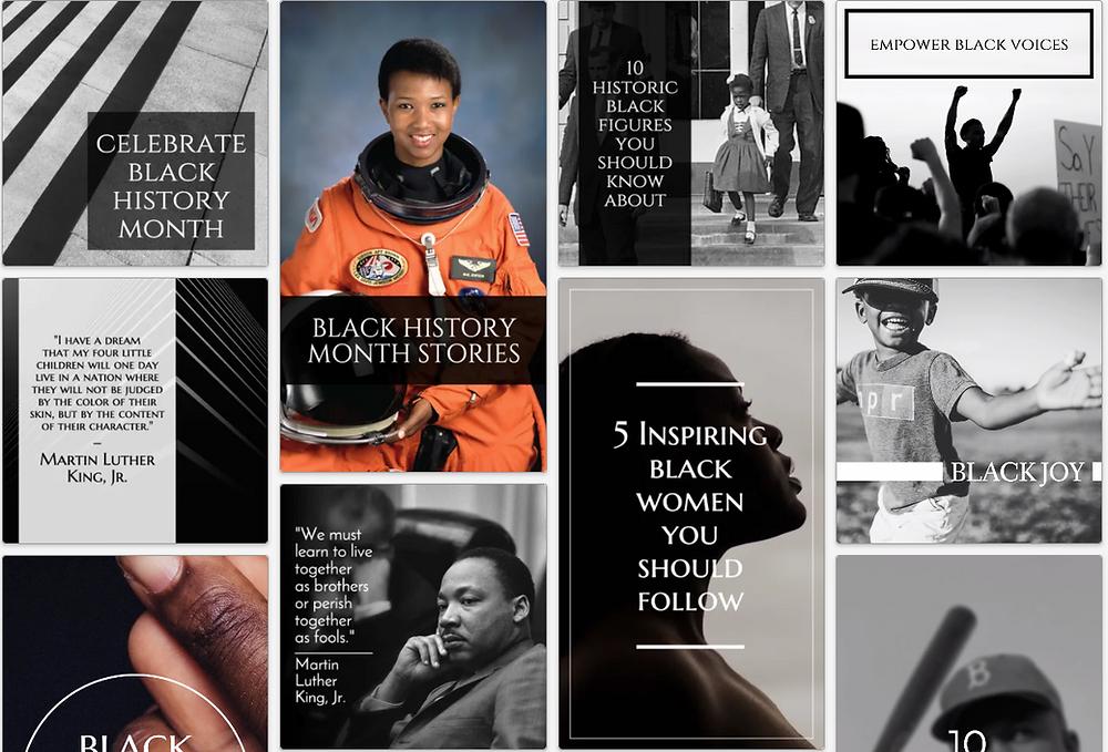 Black History Month social media post templates