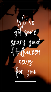 Halloween Instagram story or Facebook story orange and black story template with black cat