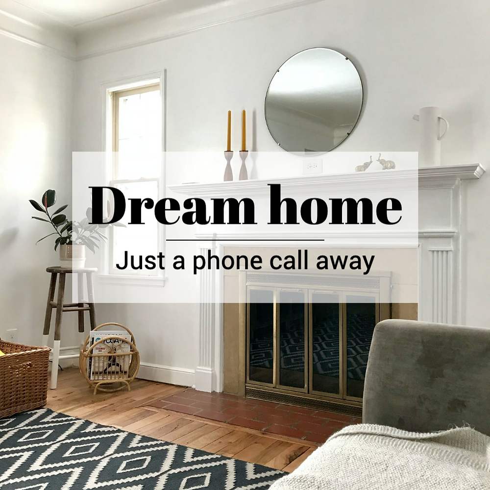 Dream home social media post template for real estate and home professionals