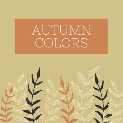 Fall colors social media template with autumn colors and leaves