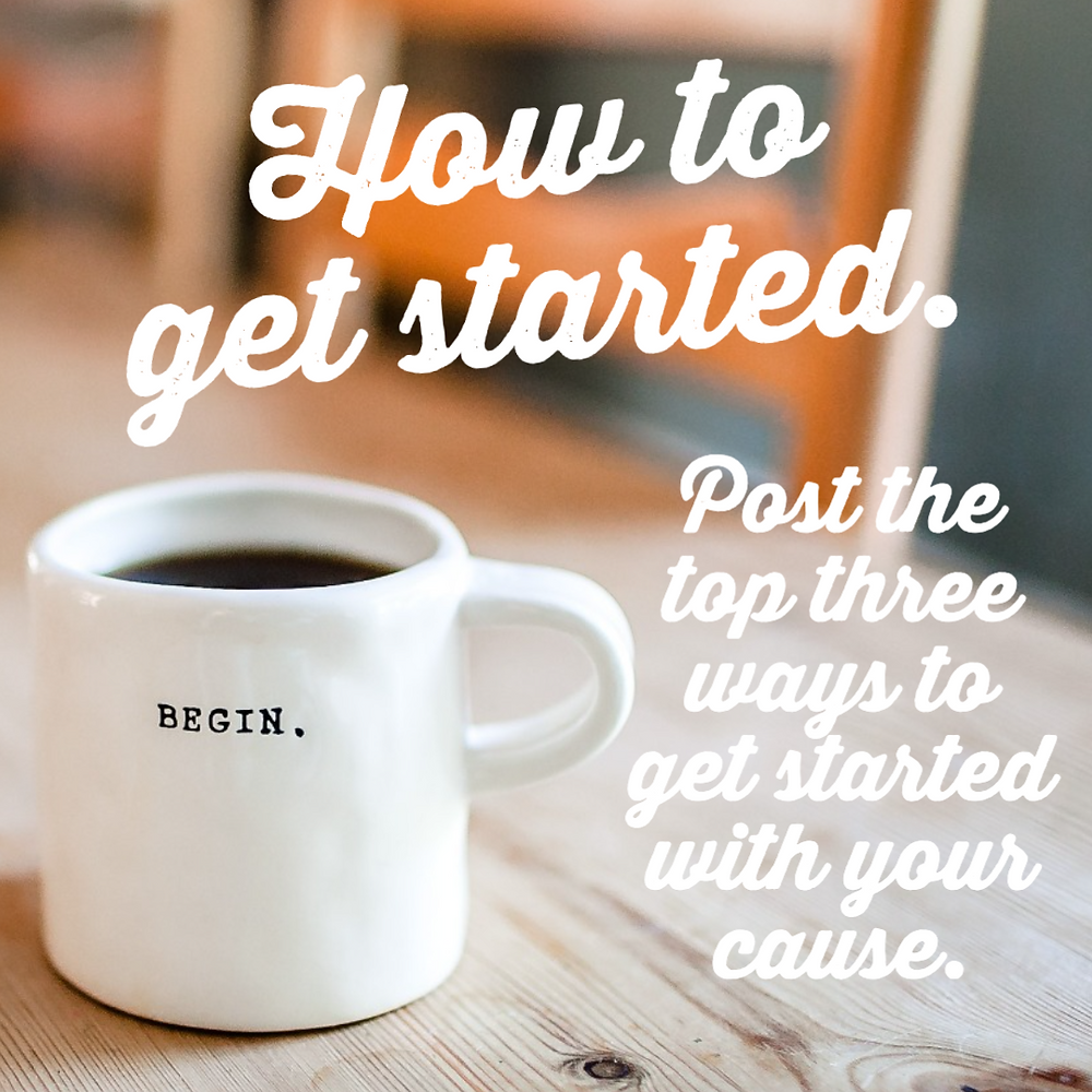 How to get started with your community cause social media post template for philanthropy and business