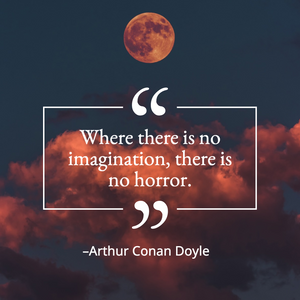 Spooky Halloween quote for social media with full moon