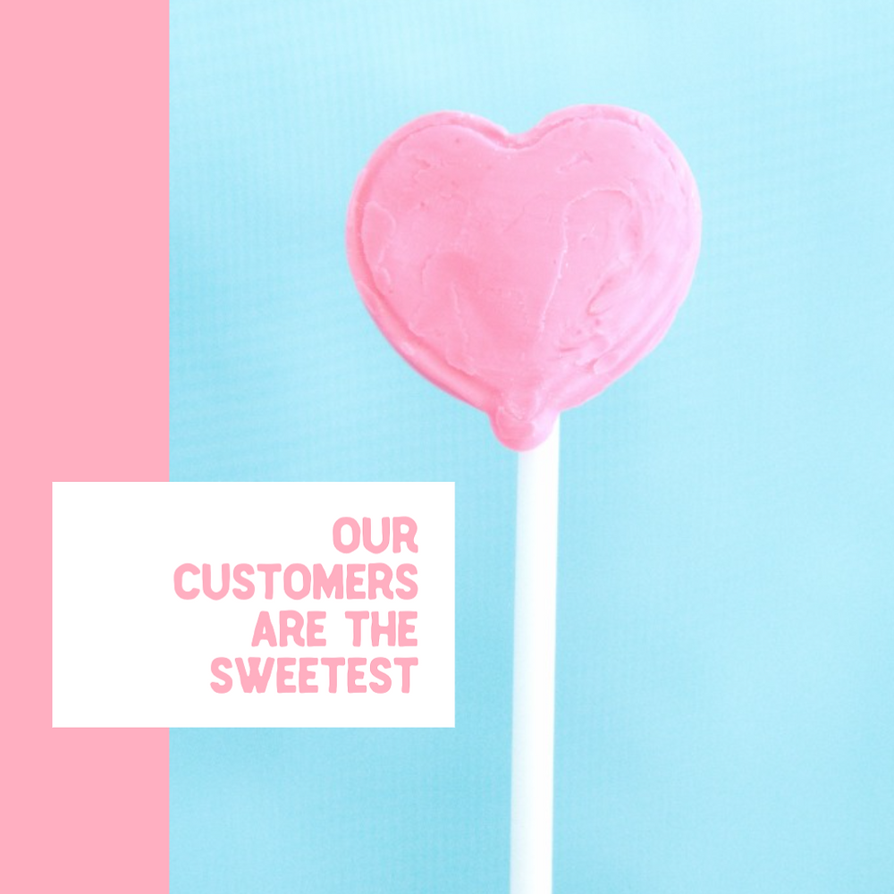 Valentine's day social media template in baby pink and baby blue with a pink heart lollipop