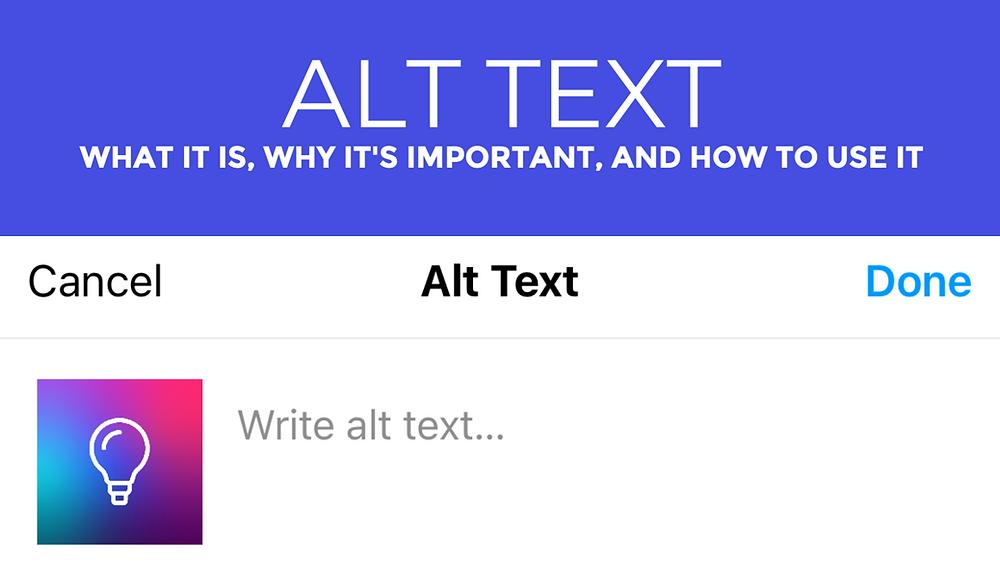 Instagram alt text tutorial
