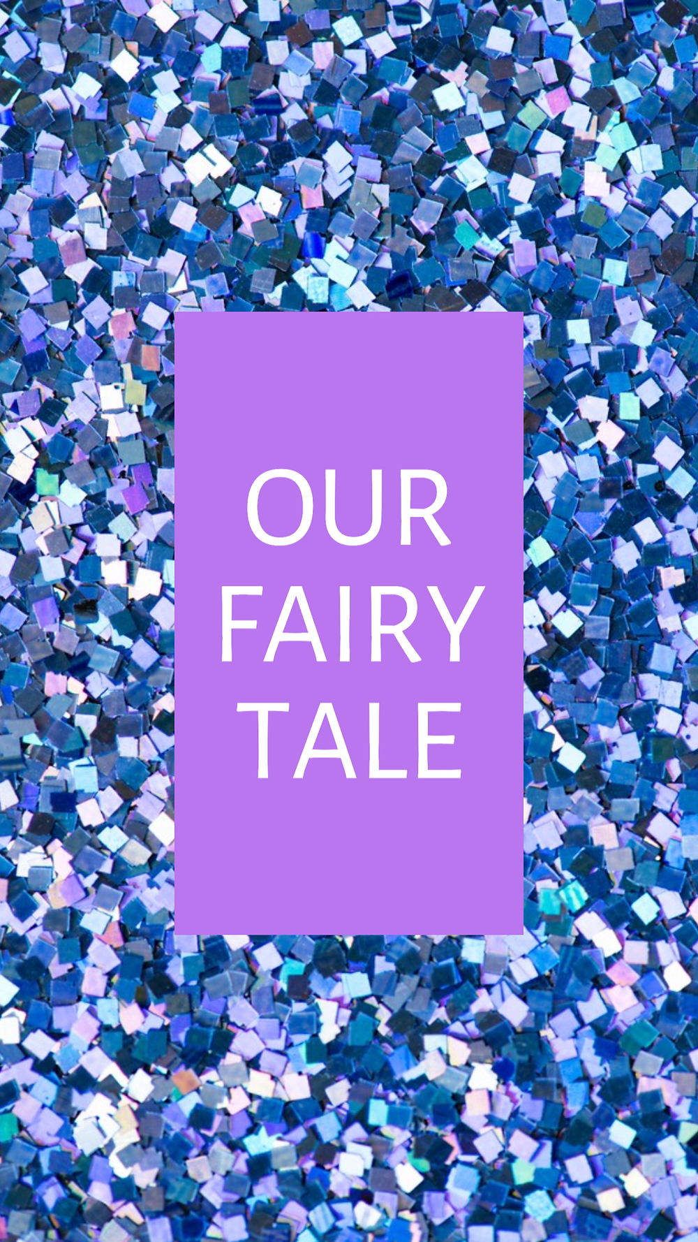Our fairy tale social media story template with purple and blue glitter