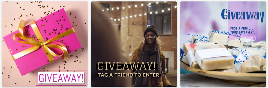 Hold a giveaway to thank your customers on social media