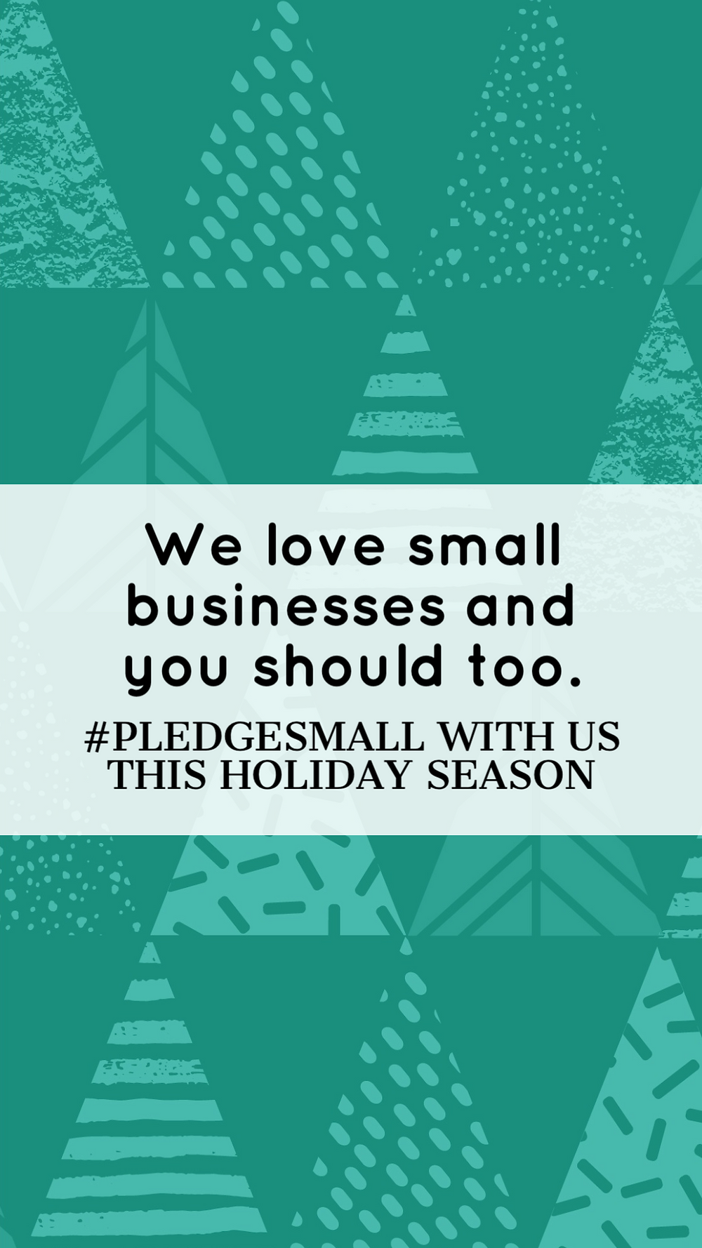 Pledge small shop small business social media story template in teal
