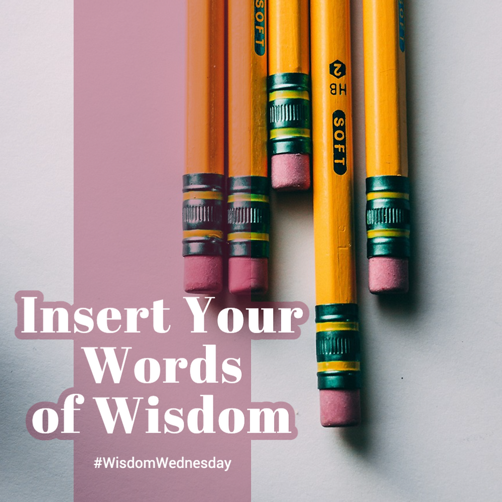 Wisdom Wednesday social media post template with pencils