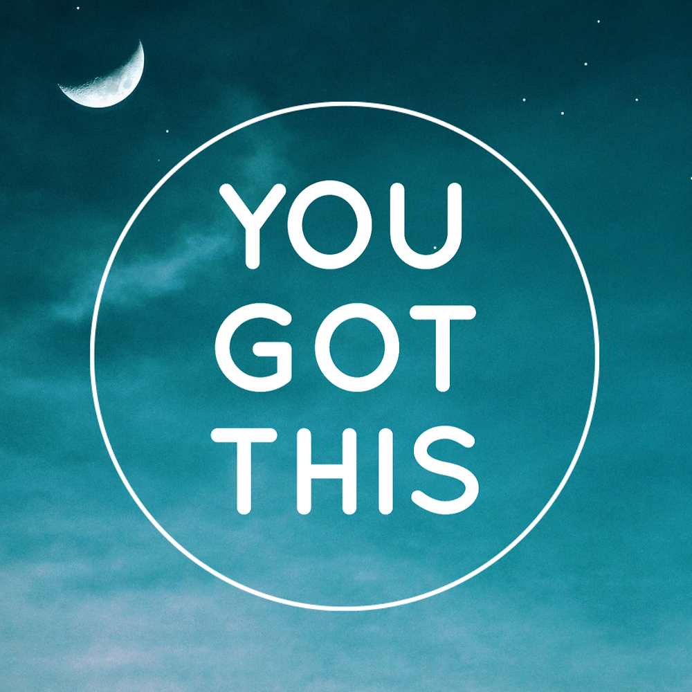 You got this social media post template with blue sky and crescent moon