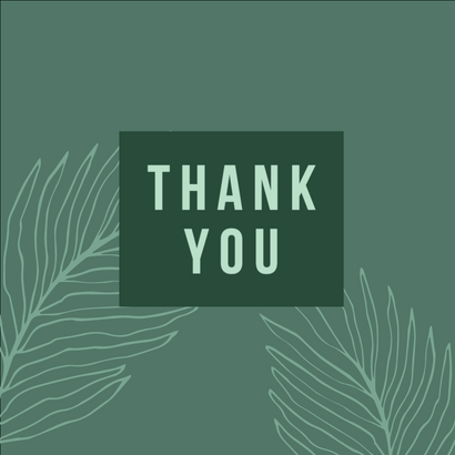 Teal thank you social media post template for Thanksgiving and Fall with autumn leaves