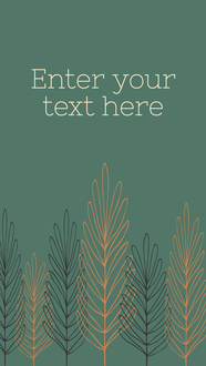 Thanksgiving story template for Instagram stories and Facebook stories teal with orange and brown fall leaves