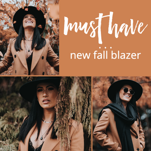 Fall / Autumn social media post template for Instagram and Facebook, retail and ecommerce