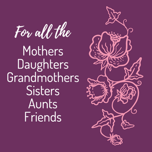 For all the mothers, daughters, grandmothers, sisters, aunts, and friends social post template for Breast Cancer Awareness Month