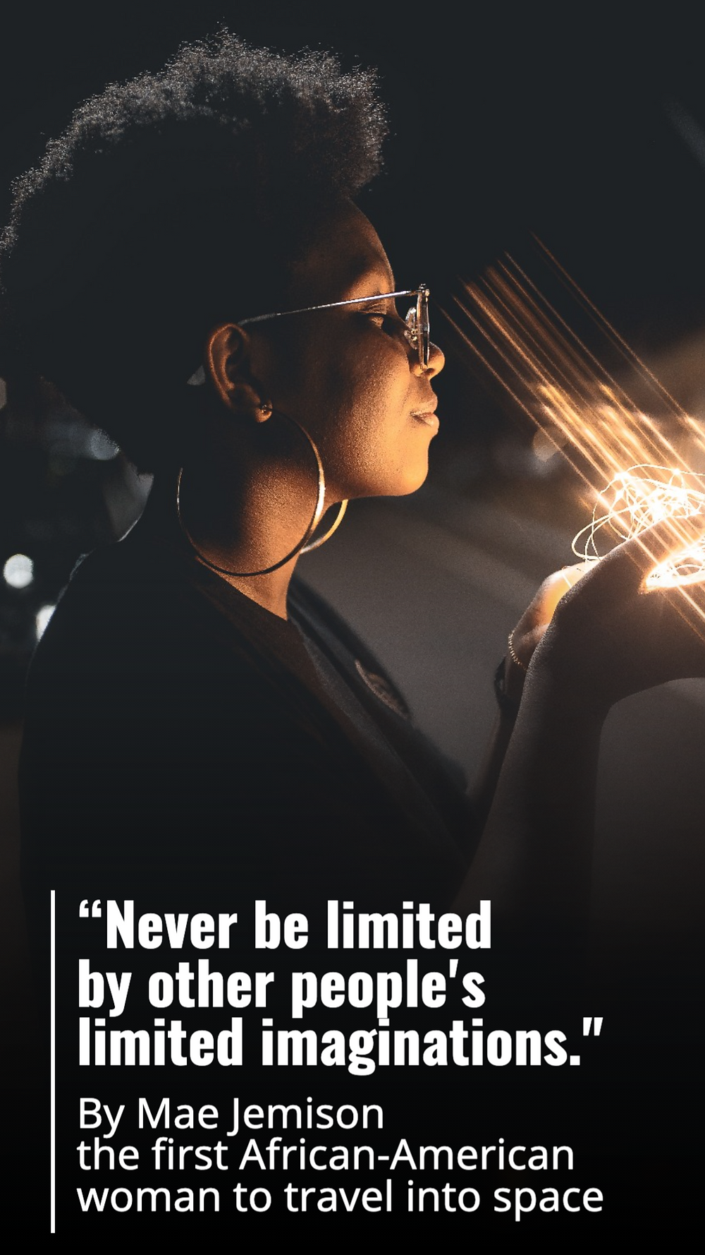 Mae Jemison quote social media story template