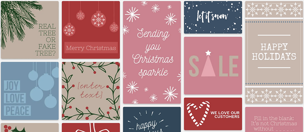 Holiday design templates for social media