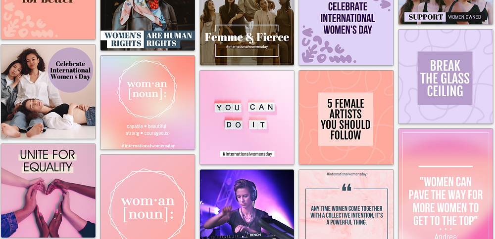 International Women's Day social media post template collection