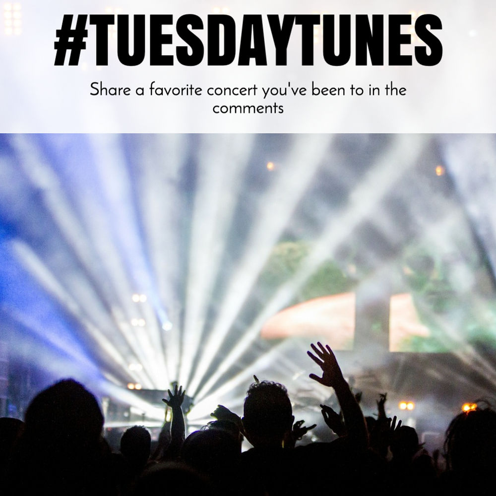 Tuesday Tunes social media post template with a musical concert image