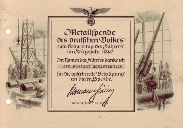 Metallspende Post 1940.jpg