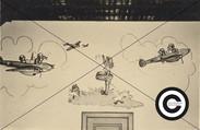 NJS 1 Flugzeugkarrikatur im Kasino1941-4