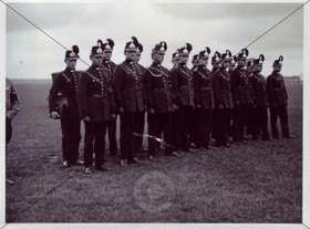 Polizei-Trupp beim Empfang