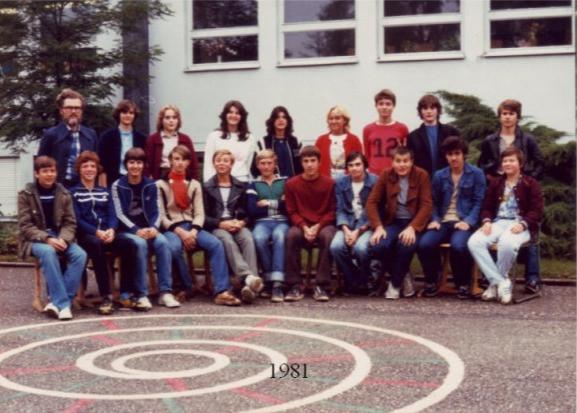 1981 9. Klasse Herr Rappolder