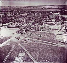 Fliegerhorst nach Kriegsende 1945