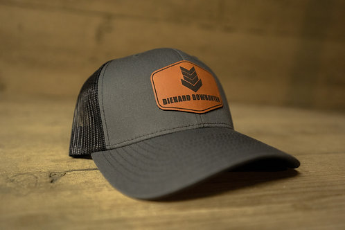 Black & Charcoal Patch Hat