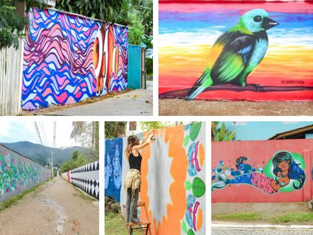 """Murais transformam Maresias num museu de """"street art"""" a céu aberto com o PROJETO #COLORINDOMARESIAS."""