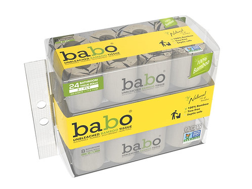 Babo Bamboo Toilet Paper 24 Rolls