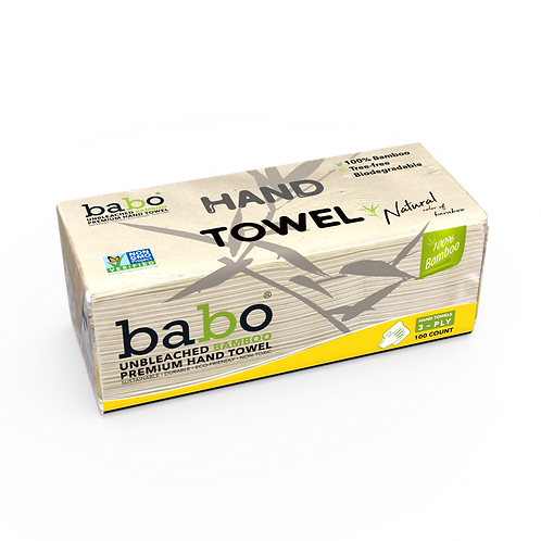 Babo Unbleached Hand Towel
