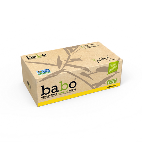 Babo Bamboo Facial Tissue 6-Box, 660 Count