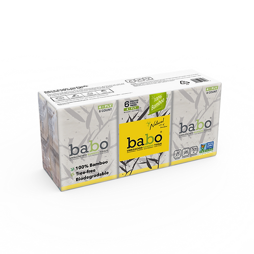 Babo Bamboo Pocket Facial Tissue 6-Pack