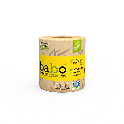 Babo Bamboo Toilet Paper Plastic Free Packaging