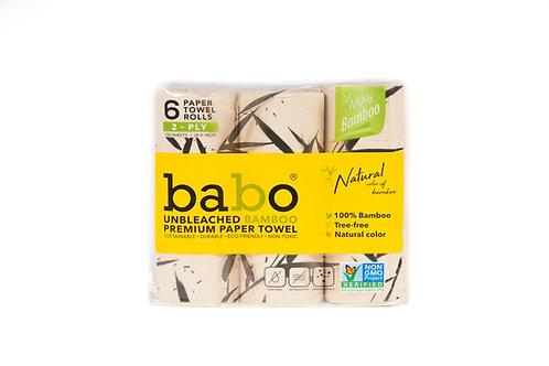 Babo Bamboo Premium Paper Towel 12 Rolls