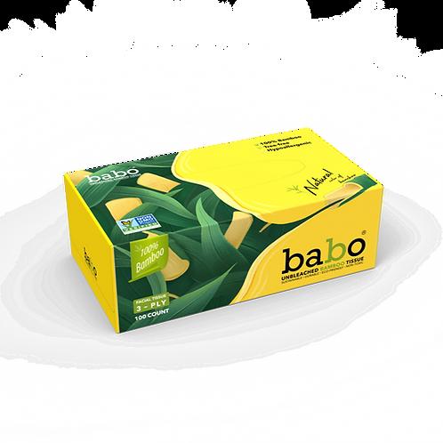 Babo Bamboo Facial Tissue 40 Boxes