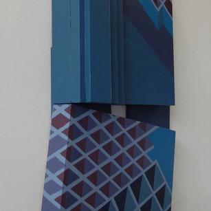 Canal Walk 2 - 75x38x8cm - Acrylic on Wood
