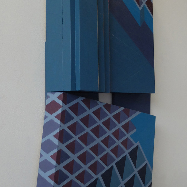 Canal Walk 2 - 75x38x8cm - Acrylic on Wood
