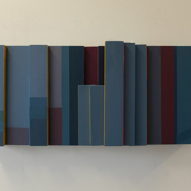 Canal Walk 1 - 26x56x10cm - Acrylic on Wood