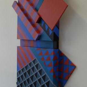 Canal Walk 3 - 75x52x8cm - Acrylic on Wood