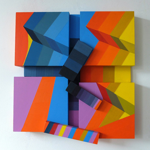 Disorder 2 - 35x35x8cm - Acrylic on Wood