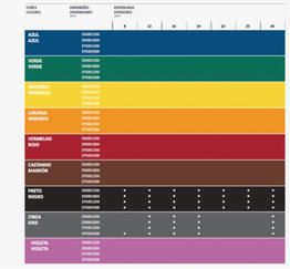 Colores disponibles Colmena