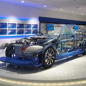自動車部品展示模型